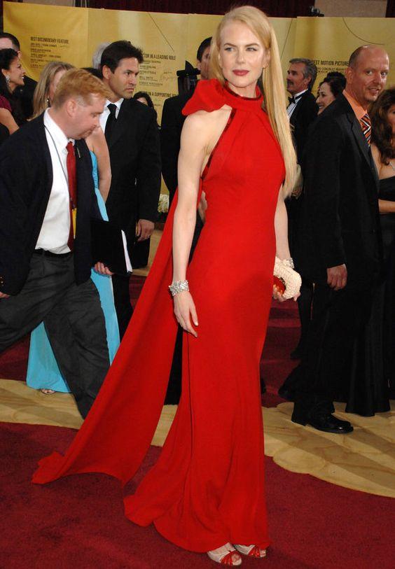 Nicole Kidman en Balenciaga aux Oscars en 2007 -