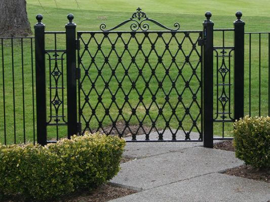 Average Cost Of Wrought Iron Fence Iron Fence Gate Iron Garden