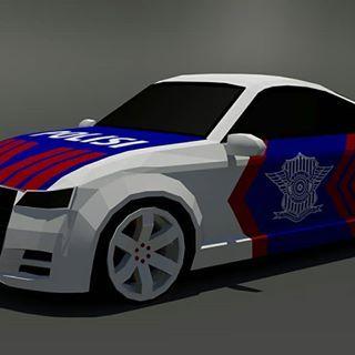 Mobil Polisi Low Poly Lowpoly 3dsmax Cars 3d Audi Hardsurface
