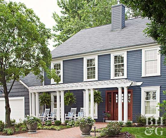 Pick The House Siding Material That S Best For You House Siding Options House Exterior Front Porch Pergola