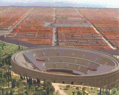 Recreación por ordenador de la ciudad de Itálica.