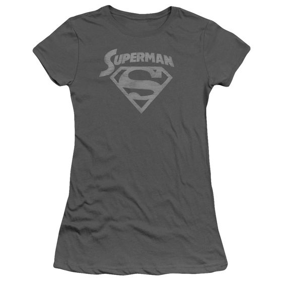 SUPERMAN SUPER ARCH Juniors Sheer Cap Sleeve T-Shirt