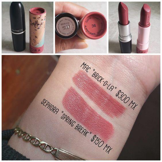 MAC Brick-o-la and Sephora Spring Break | MAC Lipstick Dupes | The Ultimate Guide | mac lipstick dupes list | mac diva lipstick dupes