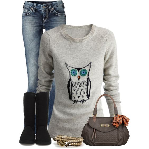 A fashion look from December 2012 featuring Burberry sweaters ...