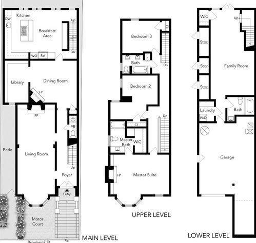 Full House Victorian Floor Plans 1709 Broderick San Fran Victorian House Plans Victorian Homes San Francisco Houses
