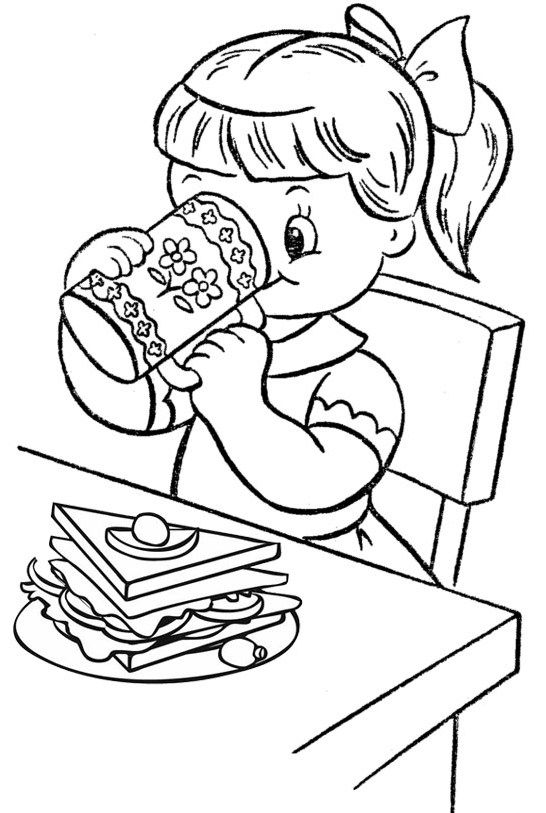 Pin By Colorists Lover On Delicious Breakfast Menu Coloring Page Food Coloring Pages Love Coloring Pages Coloring Pages