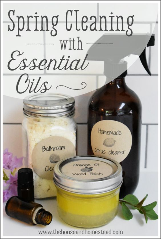 Spring Cleaning Recipes with Essential Oils   The House & Homestead