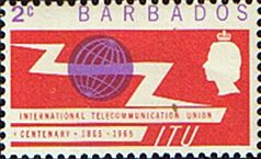 Stamp of Barbados 1965 International Telecomunication Union SG 320 Scott 265 Fine Mint Other West Indies and British Commonwealth Stamps HERE