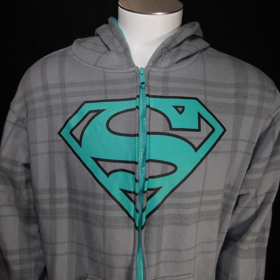 Superman Logo Full Zip Hoodie Medium DC Comics #DCComics #FullZipHoodie