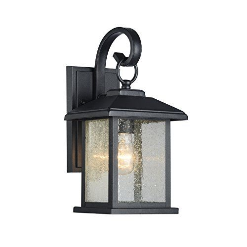 Mira Textured Black Outdoor Wall Sconce Clear Seedy Glass Https Www Amazon Com Dp B06wvg6c1j Ref Cm Sw Outdoor Wall Lantern Wall Lantern Outdoor Lighting