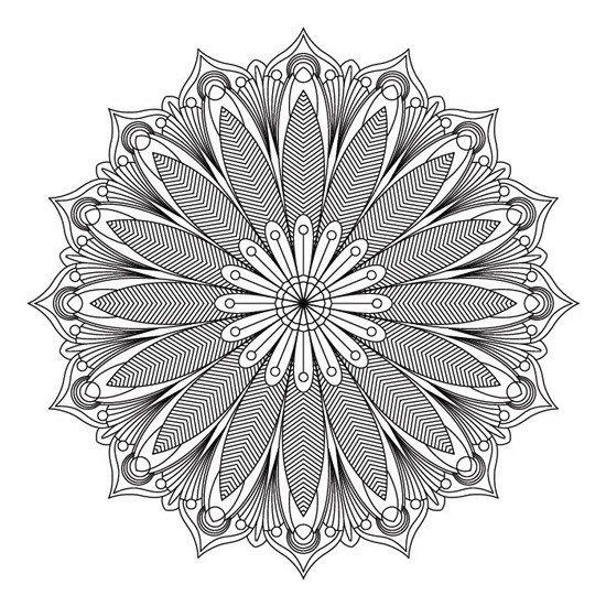 Flores Y Hojas Imprimir Sobres Mandala Para Imprimir Mandalas