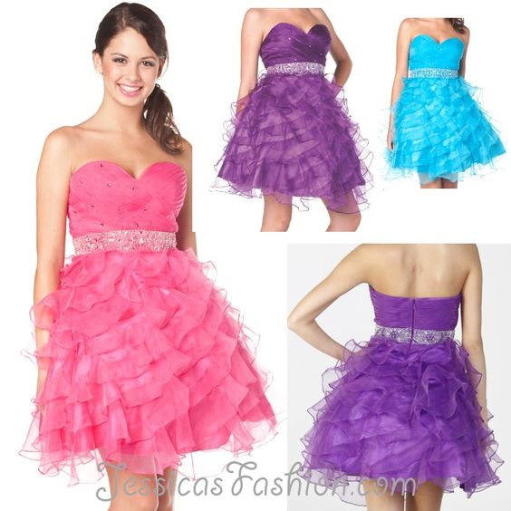Short Prom dress in color Fuchsia/Pink- Purple- Turquoise &amp- more ...