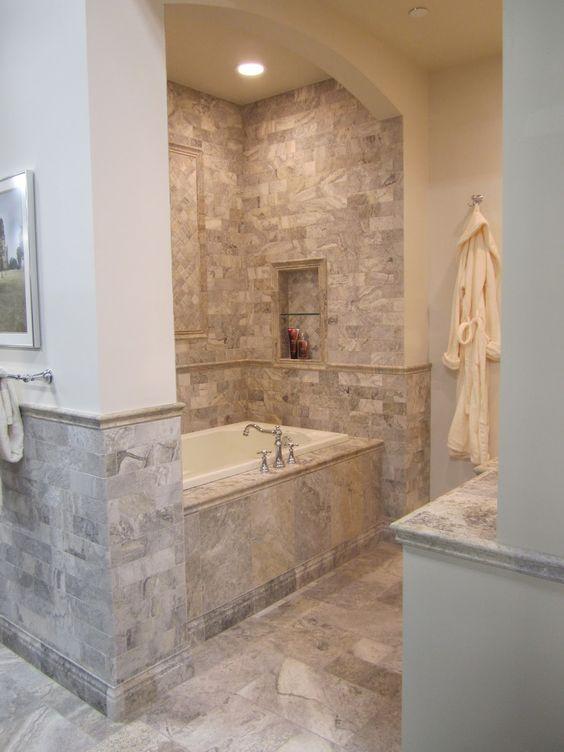 The O Jays Bathroom And Travertine On Pinterest