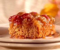 Rhubarb Upside-Down Cake. This has been a favorite family recipe for years!