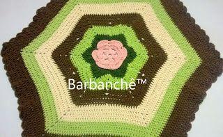 Barbanchê - Crochê em Barbante: Tapetinho ou Centrinho Barbanchê™: você decide! Rs...