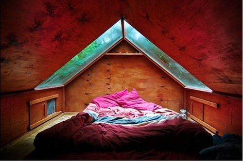 Image via We Heart It https://weheartit.com/entry/175575853/via/2328546 #bed #confy #cozy #escape #girls #nature #perfect #room #scape #cuarto #habitacion #magicplaces #acogedor
