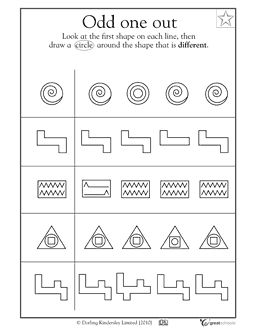 Worksheets Free Printable Visual Perceptual Worksheets visual processing worksheets to purchase the download with which crazy shape is different activities greatschools