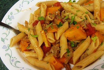 Debbi Does Dinner...  Healthy & Low Calorie: Butternut Squash Penne Pasta & Presto Pasta Nights