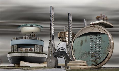 Steampunk Miniature City Art     http://dornob.com/steampunk-cities-altered-reality-art-photography/#