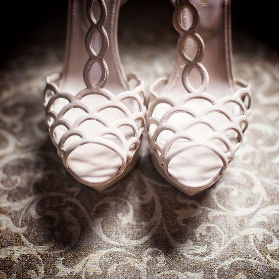Sergio Rossi Bridal Heels | Betsi Ewing Studio | TheKnot.com: