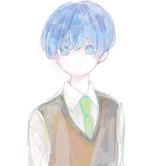 Pin By May On Cute Anime Boys Anime Blue Hair Boys Blue Hair Blue Anime