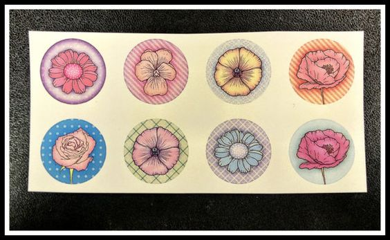 Stickers  Funky Flowers by lettersminglesouls on Etsy
