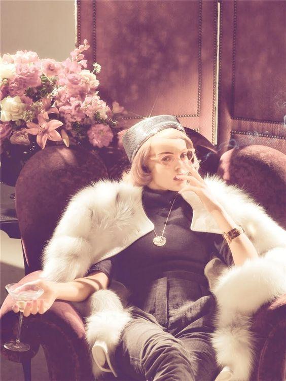 Viktoriya Sasonkina by Steven Meisel in Stardust for Vogue Italia, September 2008 Vintage Inspired fashion