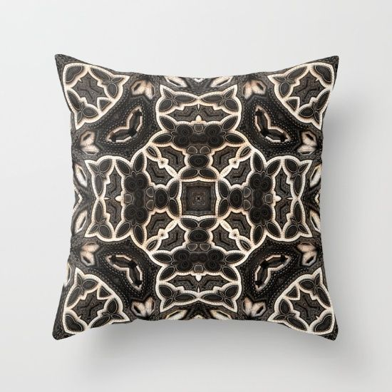 Four-sided Grey Pattern Throw Pillow