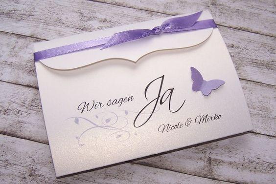 Einladung Bogenkarte klein flieder von Kartenmanufaktur Arndt ...