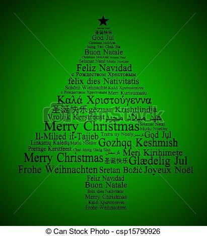 Multilingual Christmas Tree. Merry Christmas to you all! ¡Feliz Navidad a todos! Joyeux Noël à vous tous! Frohe Weihnachten euch allen! Feliz Natal para todos vocês! Buon Natale a tutti voi! Hepinize Mutlu Noeller! #Christmas
