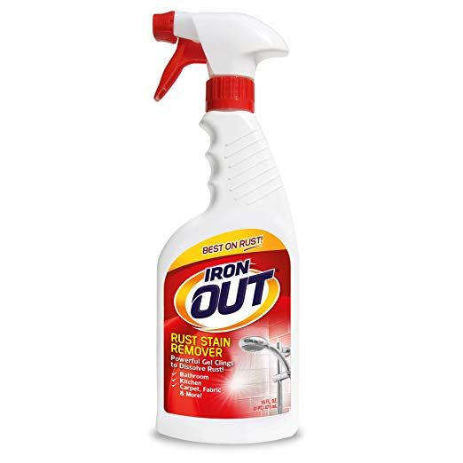 Amazon Com Iron Out Rust Stain Remover Spray Gel 16 Fl Oz Bottle Home Kitchen Remove Rust Stains Stain Remover Spray Stain Remover