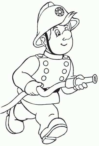 Fireman Coloring Page Party Pinterest