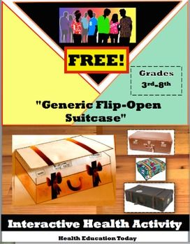 Interactive Lesson FREE!: Flip-Open Generic Suitcase for Any 3rd-8th Grade Teacher.  Art project that fits almost ANY topic!!  FREE!!