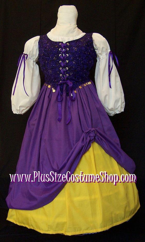 Gypsy FORTUNE TELLER Plus Size Halloween Costume
