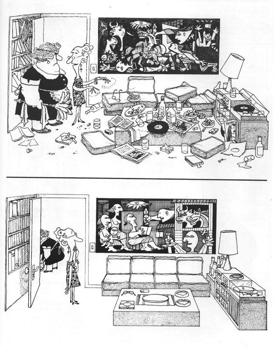 igorusha:  Quino  ed: Even the Picasso got tidied up.: