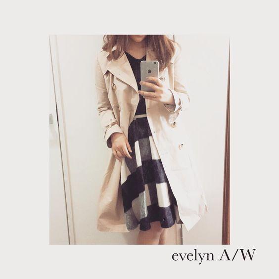 evelyn 2015A/W♡  トレンチコートは形が綺麗でとってもおすすめなアイテム♡  近日発売予定 #evelyn #エブリン