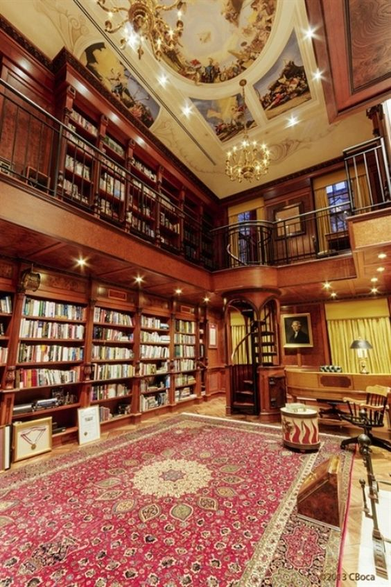 Most expensive house in New York City: $161 million mansion on the Upper East Side in Manhattan. Library is lovely.