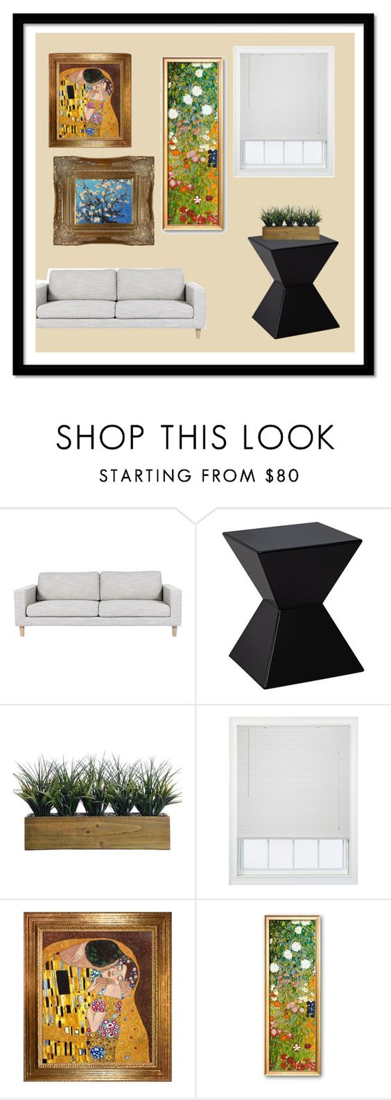 """""""Art, antique, a living thing"""" by kankenkiid ❤ liked on Polyvore featuring interior, interiors, interior design, home, home decor, interior decorating, Sunpan, Laura Ashley and JCPenney Home"""