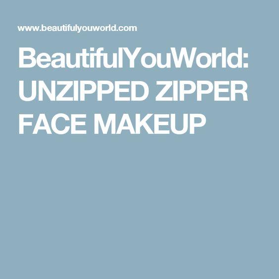 how to make a zipper face