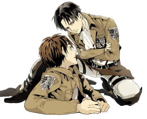 Eren and Levi || 世界最強の重み | 松基 [pixiv] http://www.pixiv.net/member_illust.php?mode=medium&illust_id=36889053