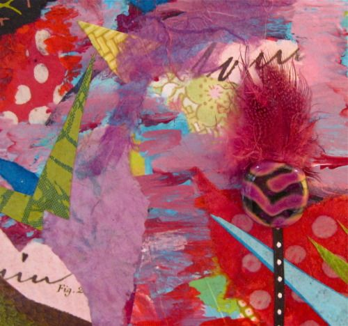 Detail, Flower Power, mixed media, www.melaniebirk.com#flowerart#floralpaintings#colorfulwallart