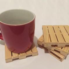 Handmade Pine Wood Pallet Coasters