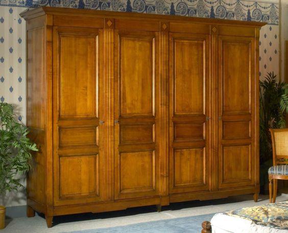Armoire 4 portes, style Directoire - Meubles Richelieu | Armoires ...