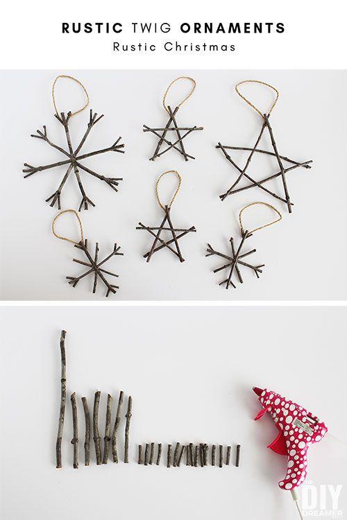 Rustic Twig Christmas Ornaments Rustic Christmas Ideas Twig Crafts Rustic Christmas Christmas Ornaments Homemade