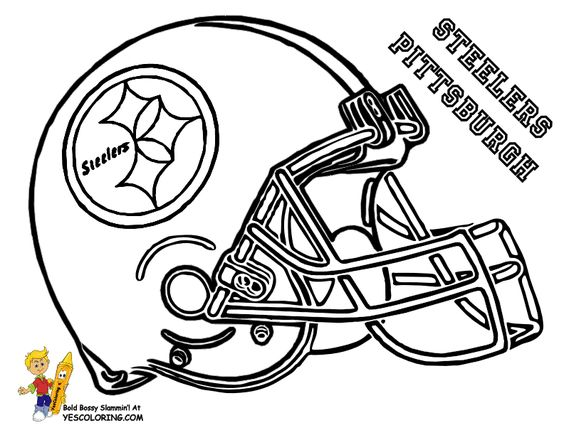 pittsburgh steelers coloring football helmet black and yellow pinterest football