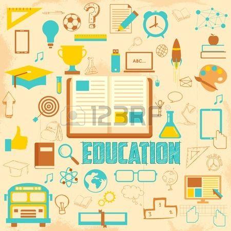 レトロな教育の背景イラスト 写真素材