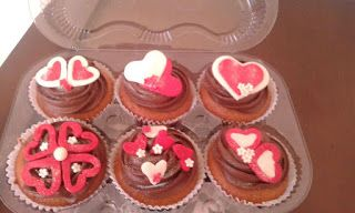 Artesanato  Doce: Cupcakes dia dos namorados