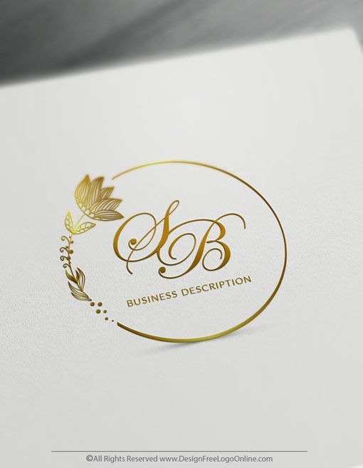 Create Your Own Flower Logo Design By Using The Online Logo Maker Online Logo Making Never Been Easi In 2020 Flower Logo Design Wedding Logo Design Floral Logo Design