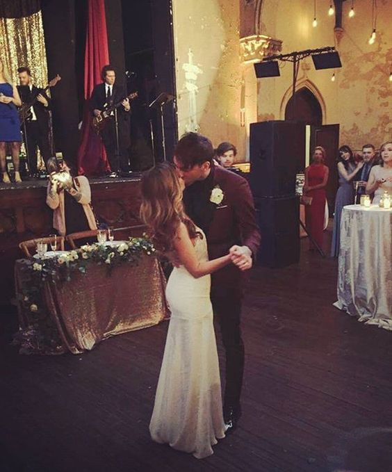 Alex and Lisa Gaskarth on their wedding day April 9 2016 ...