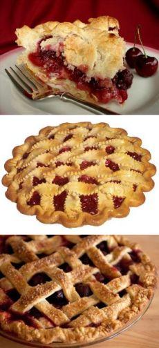 Пирог с вишней, рецепты пирога с вишней   Выпечка